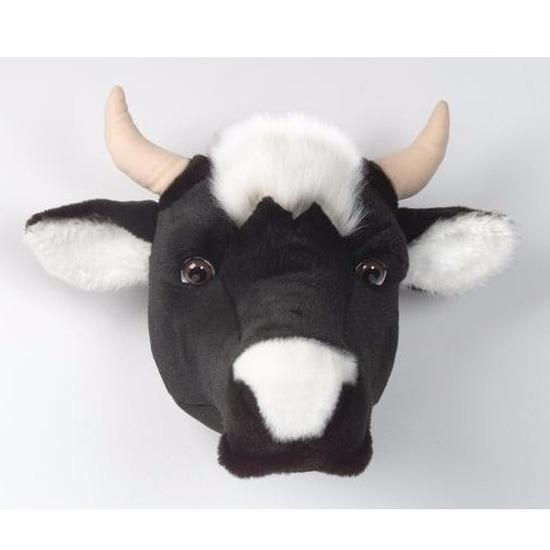 Pluche koeienkop voor aan de muur