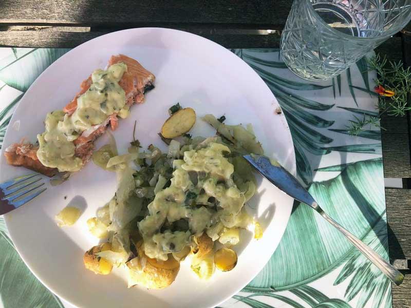 Recept aardappel-venkel-zalm-schotel