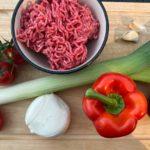 Gehaktschotel met groenten van eigen bodem