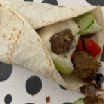 Vegetarische wrap met pulled oats
