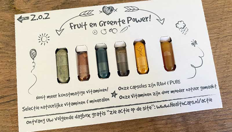 HealthCaps, supplementen met groenten en fruit