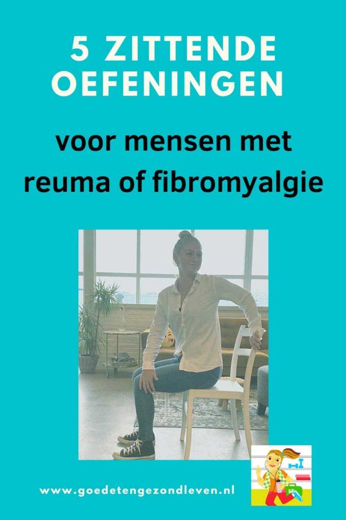 5 zittende oefeningen voor mensen met reuma of fibromyalgie