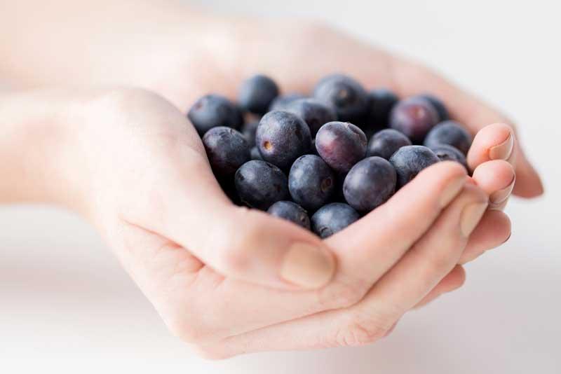 Groente en fruit met veel vezels