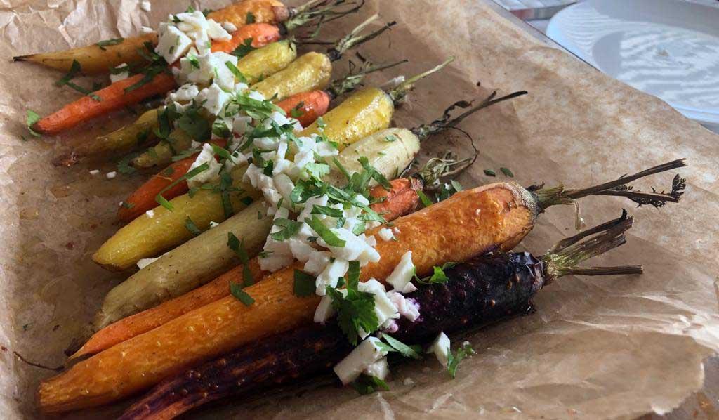 Recept feestelijke, gekleurde wortelen