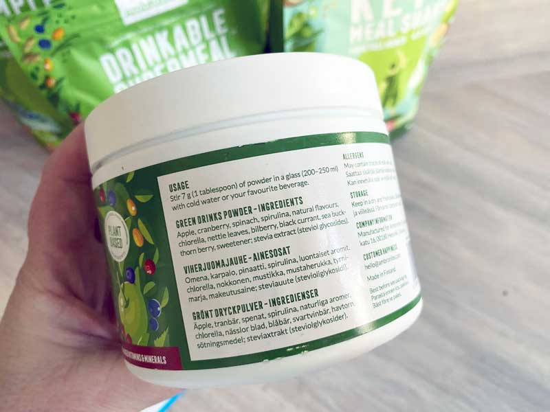 Green juice met zoetere smaak, Ambogreens