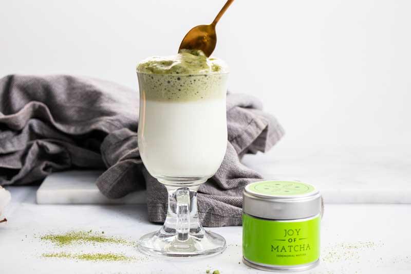 Recept Dalgona Matcha Latte