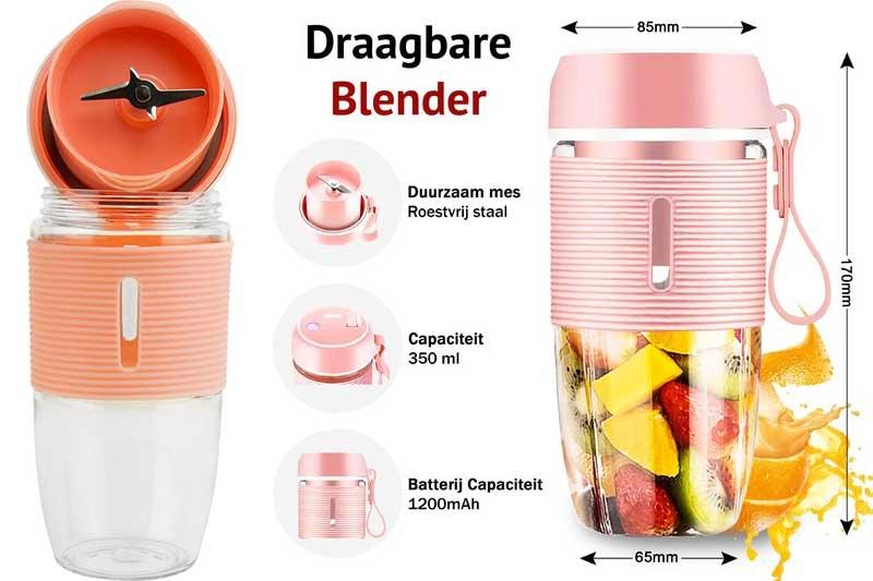 Blender-to-go, drinkfles met blender