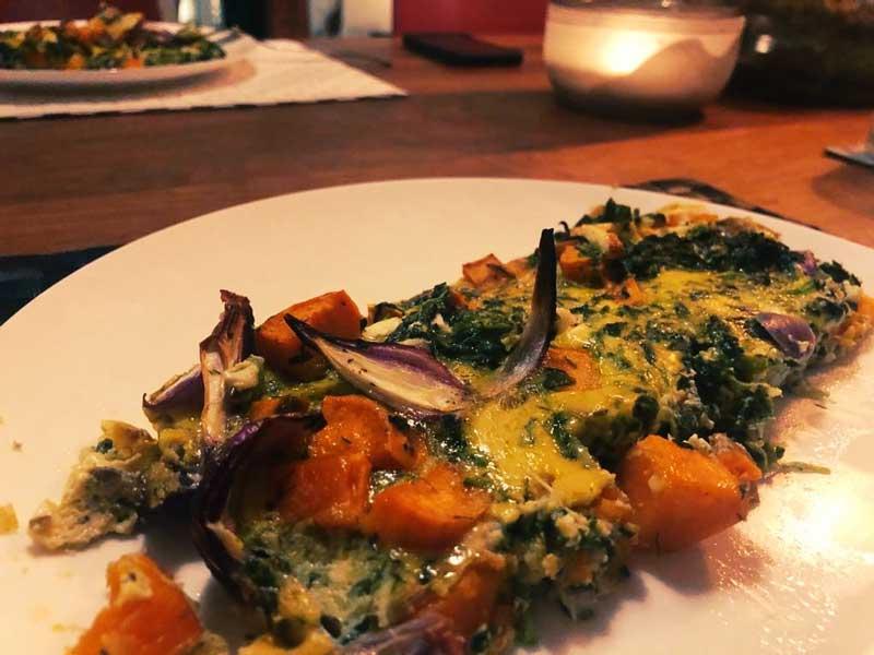 Recept: Frittata met zoete aardappel en spinazie