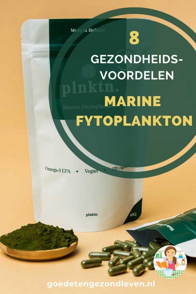 Gezondheidsvoordelen van Marine Phytoplankton