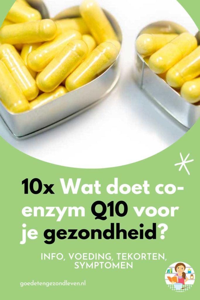 Informatie over co-enzym Q10, uitleg, tekorten, voor wie, symptomen, gezondheidsvoordelen