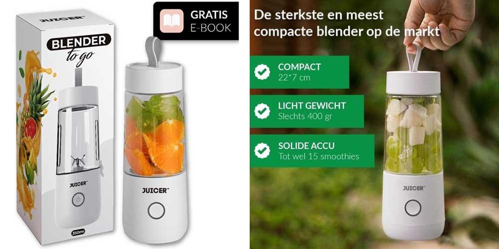 Juicer smoothie blender-to-go met drinkfles