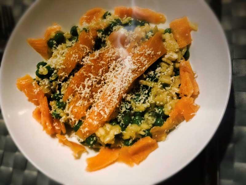 Recept risotto met zalm