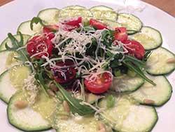 Recept courgettecarpaccio met avocado