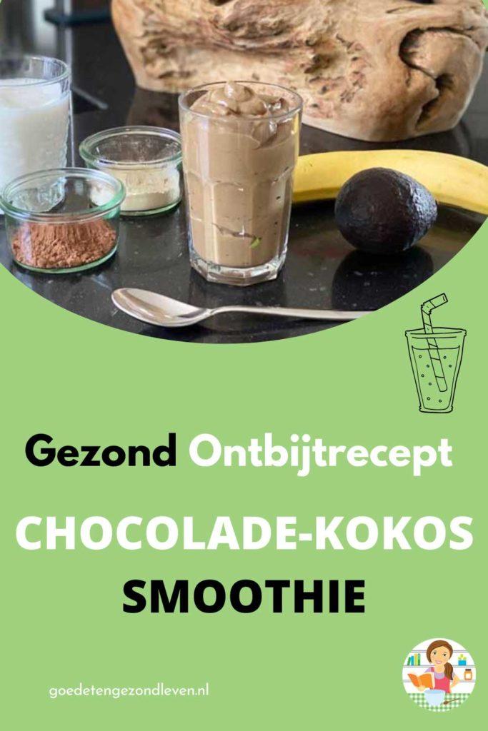 Gezond recept voor een chocolade-kokos-smoothie