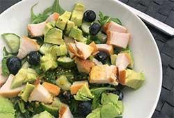 Recept snelle salade met avocado