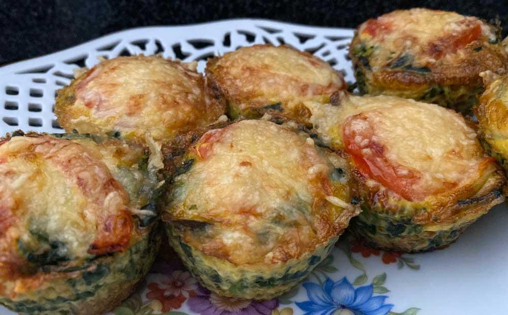 Hartige muffins met ei, recept voor de Airfryer