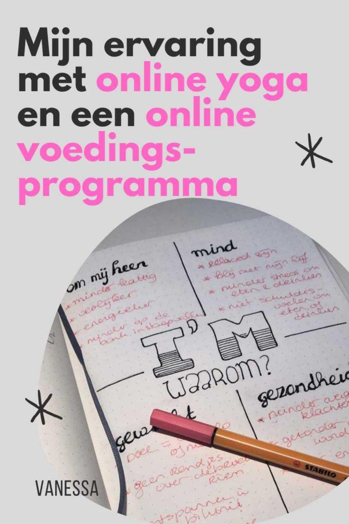 Ervaring met online yoga en een online voedingsprogramma
