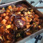Recept traybake met kip, zoete aardappel en groenten