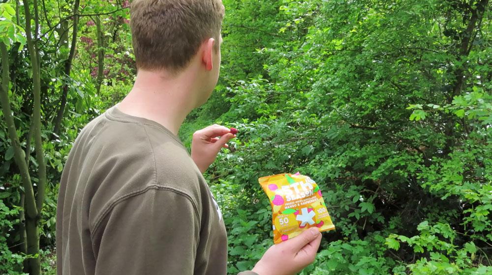 Gezonde snacks voor onderweg, zoals deze lekkere fruit bites van 5th Season