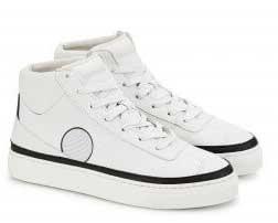 Hoge, witte vegan sneakers