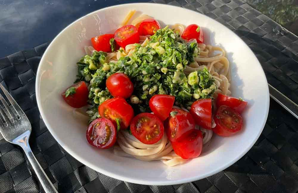 Glutenvrije pasta pesto, gezond en makkelijk recept