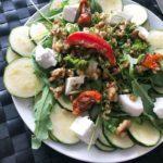 Recept courgette carpaccio met walnoten en geitenkaas