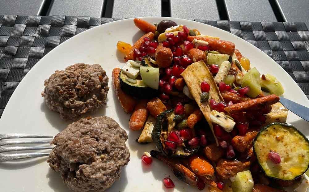 Recept herfstsalade met gegrilde groenten