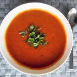 Zoete tomatensoep als maaltijdsoep. Gezond recept