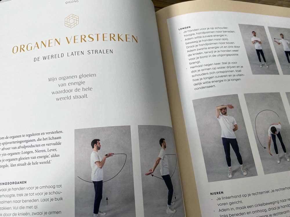 Qigong oefeningen in een boek